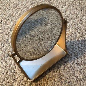 Gold vanity makeup mirror